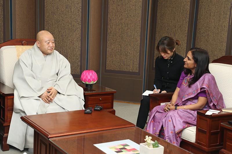驻韩印度大使礼访总务院长